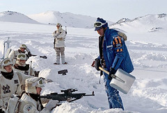 Rebels in the trench in Finse Norway (Tom Simpson) Tags: winter snow cold film norway vintage movie rebel starwars trench soldiers behindthescenes hoth finse theempirestrikesback