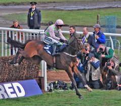 Photographing the jump .... (Halliwell_Michael ## Many thanks for your visits #) Tags: horse sport liverpool spring photographers lancashire jockeys horseracing springtime grandnational aintree 2016 nikond40x