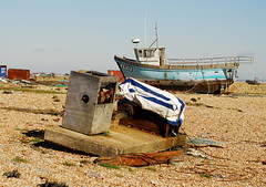 Down the boats  2 (Bruners) Tags: boats mess paddy fine hamilton changing same always ever | a dungenessbeach
