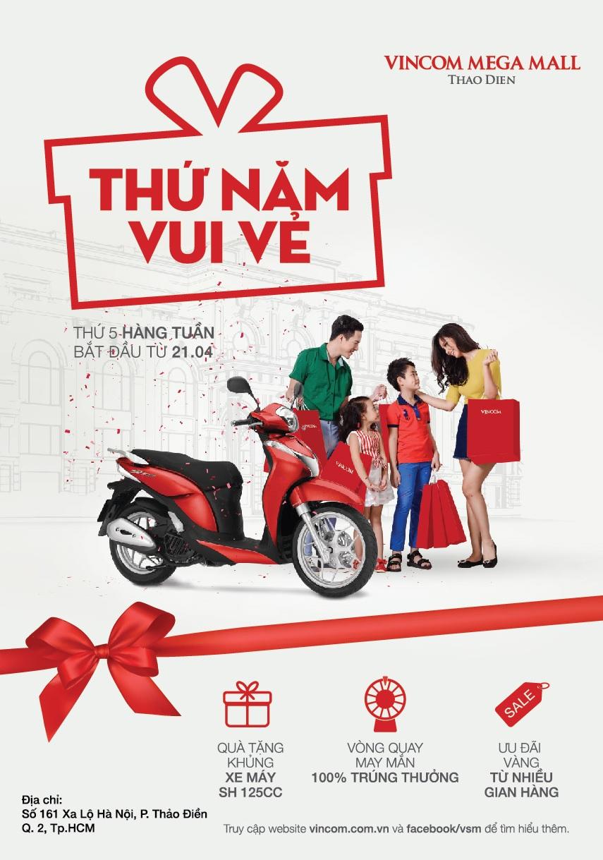 Ưu đãi vàng 'Thứ Năm Vui Vẻ' tại Vincom Mega Mall Thảo Điền