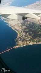 Vol Air France 083 (akunamatata) Tags: bridge paris golden gate san francisco view air flight aerial vol hublot arien