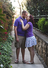 Untitled (Leigh Anne Brader) Tags: green love smile loving outside happy photography engagement spring kiss couple purple sandals maryland skirt flipflops happycouple engaged frederick fiance engagementphotography frederickmaryland engagementsession engagedcouple marylandphotographer marylandcouple