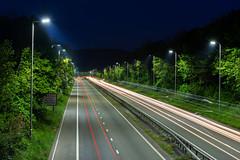 Car Trails A410 (technodean2000) Tags: uk car night way nikon carriage trails dual lightroom a470 d610