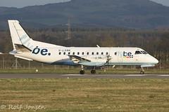 G-LGNK Saab 340 Loganair Glasgow airport EPGF 11.04-16 (rjonsen) Tags: plane airplane airport glasgow aircraft ready propeller saab turboprop 340 loganair flybe egpf