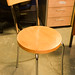Beech and chrome cafe chair