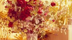 Red Roses flower (Mritchie00) Tags: old red party flower color green art love nature glass beautiful beauty dinner restaurant design interior decoration romance retro celebration event reception bunch romantic bouquet banquet chic elegant filters arrangement
