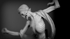 Dancing Dead (Steve.frog) Tags: bw white black skeleton skull dance cologne kln bones sw crossbones totenkopf miniatur knochen schdel schnttgen