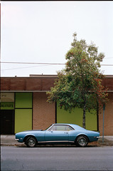 the Blue Car (Coleman Camp) Tags: film scad