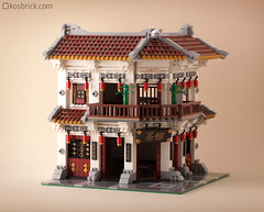 Tea House (kosbrick) Tags: china city house building classic vintage indonesia town lego tea chinese newyear modular moc