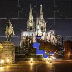 Dom Kln Puzzle 16 teilig (jdia1002D) Tags: dom kln puzzle nachtaufnahmen