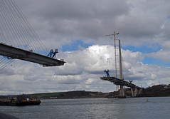Queensferry Crossing, 16th April 2016 (andyflyer) Tags: bridge construction forthbridge queensferry southqueensferry civilengineering bridgeconstruction forthcrossing newforthbridge queensferrycrossing