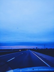 (Meg4nnn) Tags: road travel sunset nature beautiful landscape drive illinois spring twilight highway scenery driving dusk roadtrip adventure explore april iphonephoto vsco