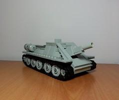 SU-122 (italianww2builder) Tags: tank lego ww2 artillery su custom russian 122 howitzer t34