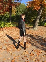 IMG_3986 (valkex1) Tags: stockings leather skirt jacket mature seams