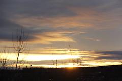 Cityscape sunrise (Apollo51x) Tags: light sunset sky sun weather skyline clouds sunrise canon skyscape dawn solar colorful skies cityscape shadows spectrum atmosphere ciel sherbrooke lensflare nubes cielos nuage cloudscape cloudformations skysolar