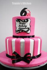 Barbie Fashion Show birthday cake (Tramie's Kitchen) Tags: show fashion cake barbie fondant