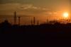 20160108_013_2 (まさちゃん) Tags: silhouette 雲 空 夕焼け シルエット 送電線 茜色 夕焼け空 夕暮時 高圧送電線