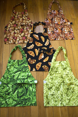 Toddler aprons (quinn.anya) Tags: bread potatoes toddler lettuce fabric grapes daycare preschool aprons croissants