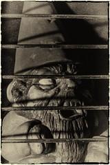 Let me out (Evoljo) Tags: hat beard blackwhite gnome nikon bars zombie prison pottery 365 366 d7100