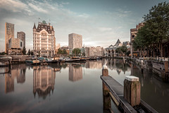 Rotterdam - Oude haven (hannes cmarits) Tags: old city urban reflection water netherlands boat rotterdam ancient europe ship harbour buidling