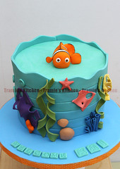 Nemo baby shower cake (Tramie's Kitchen) Tags: cake nemo babyshower fondant