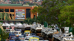 Monusco traffic jam