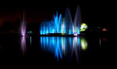 Fte d'inauguration des nouveaux quais d'Auxerre le 14/12/2013 (jjcordier) Tags: eau lumire reflet laser fte quai inauguration feudartifice jeux auxerre yonne