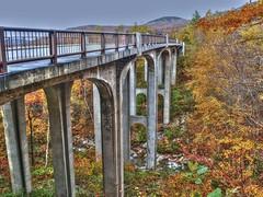 Franconia Notch HDR (Videoal) Tags: autumn bridges newhampshire nh hdr senic