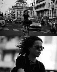 [La Mia Città][Pedala] (Urca) Tags: portrait blackandwhite bw bike bicycle italia milano bn ciclista biancoenero mirò bicicletta 2015 pedalare dittico 79260 nikondigitale ritrattostradale