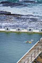 Swimming near the washing machine (noompty) Tags: swimming newcastle prime pentax baths nsw coastline k5 merewether smcpda300mmf40edifsdm