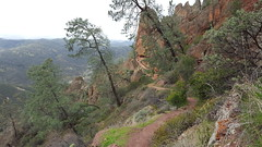 A rare flat part of the High Peaks Trail in Pinnacles NP