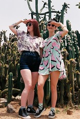 Cacti babes (Katie Tarpey) Tags: girls summer cactus hot cute film cacti 35mm fun legs kodak nikonfm10 prints girlsonfilm stylish kodakportra400 nikkor50mm14 desertstyle
