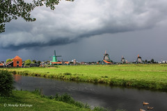 Typical Dutch - windmills in Zaanse Schans near Amsterdam EXPLORE 30.01.2016 and dropped for using watermark! (Monika Kalczuga) Tags: sky holland netherlands dutch clouds landscape outdoor windmills molen zaanseschans noordholland dutchlandscape typicaldutch windimll