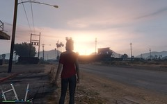 Grand Theft Auto V 01.22.2016 - 11.36.39.22 (holdz4) Tags: sunset sol girl car do moto carro gta por ruiva bandido gtav gtavonline