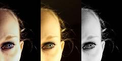 The 'eyes' have it (Deathexit12) Tags: blue portrait bw selfportrait girl beautiful self hair eyes blueeyes danielle blonde multiple edits deathexit12