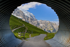 Welcome to the Eiger Trail. The Jungfrau mountain peak,Berner Oberland, Switzerland. No. 7912. (Izakigur) Tags: jungfrau berneroberland bern berna berne thelittleprince thejungfrauregion wengen switzerland schweiz svizzera nikond700 nikkor2470f28 tunnel eiger europa eigertrail lasuisse laventuresuisse liberty lepetitprince topf800 100faves 20faves 250faves 300faves 500faves brilliant