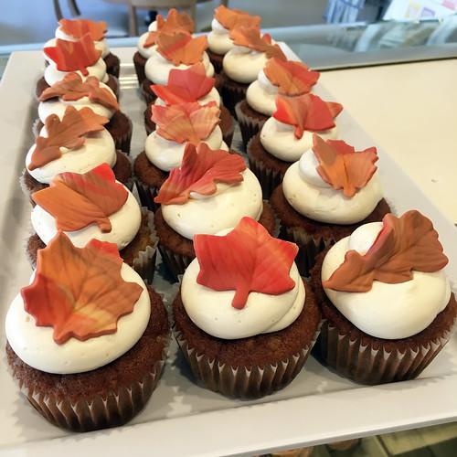 Fall Leaves Apple Cupcakes