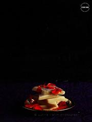 Cashew Burfi (lubnakarim06) Tags: rose yum rich rosepetals yummyfood sidelight indiansweets burfi sweetsdesserts indianrecipe festivalscelebrations kitchenflavours