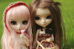 summer (e f i c h u ) Tags: summer brown white rabbit green animal eyes doll chips bonnie classical cancan pullip brunette coolcat cwr shinku obitsu eyechips leekeworld rewigged peachpink rechipped