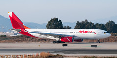 Avianca A330 ready to depart from BCN (Oscar Snchez Photo) Tags: bcn airbus a330 spotting departing avianca 25l lebl