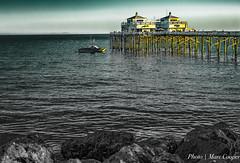 Malibu Pier at Sunset (MarcCooper_1950) Tags: ocean sunset sea sun beach water ir pier twilight nikon sundown dusk malibu pch pacificocean hdr goldenhour lightroom d7100 marccooper