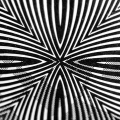 Hocus focus (Thad Zajdowicz) Tags: blackandwhite bw white abstract black macro texture monochrome lines square pattern availablelight curves highcontrast optical maryland symmetry minimal turbo motorola symmetrical 365 minimalism bethesda hmm dazzle android droid 1x1 lightroom opart montgomerycounty 366 easymacro zajdowicz