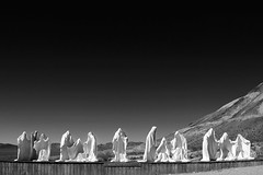 """The Last Supper"" (helmet13) Tags: bw sculpture usa museum artwork raw desert nevada plaster rhyolite thelastsupper redfilter aoi goldwellopenairmuseum 200faves albertszukalski peaceaward heartaward world100f platinumpeaceaward worldpeacehalloffame d800e level5peacekeepers level4gallerytheverybest level7givepeaceachance level6peacemakersaward"