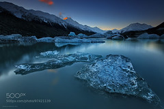Floating Crystals (Big_Joker) Tags: winter sunset newzealand ice amazing floating hike glacier nz tasman nationalparks mountcook aoraki 500px epicnz patrickmarsonong
