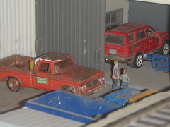 At the garage 2/4/2015 (THE RANGE PRODUCTIONS) Tags: layout model dodge greenlight matchbox dioramas diecast 164scale diecastdioramas hoscalefigures