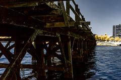 IMG_1625s (francois f swanepoel) Tags: wood sea lighthouse water lunch concrete bridges perspectives capetown infrared restoration brug naval atlanticocean milnerton beton 1960 westerncape woodbridgeisland atlantieseoseaan ligtoring
