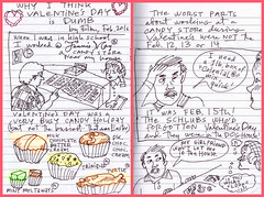 why i think valentine's day is dumb (EllenJo) Tags: chicago silly drawing cartoon valentine 1989 1980s candies candystore valentinesday february14 fanniemay ellenjo edisonparkfanniemay