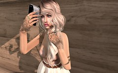 Selfie (Kmy Afarensis) Tags: tattoo hair nude hands mesh top omega free ring nails gift casual marketplace belleza maitreya magika slink appliers