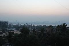 sunrise over Bombay, 1 of 3 (olive witch) Tags: trees light sun india skyline sunrise outdoors december day horizon bombay mumbai bandra dec15 2015 abeerhoque