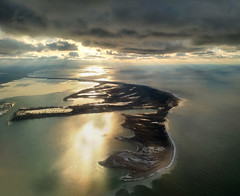 Presque Isle From the Air (kweaver2) Tags: park blue sky lake seascape art beach nature water clouds swimming plane landscape photography bay fishing state hiking pennsylvania air fine biking erie peninsula presqueisle kathyweaver